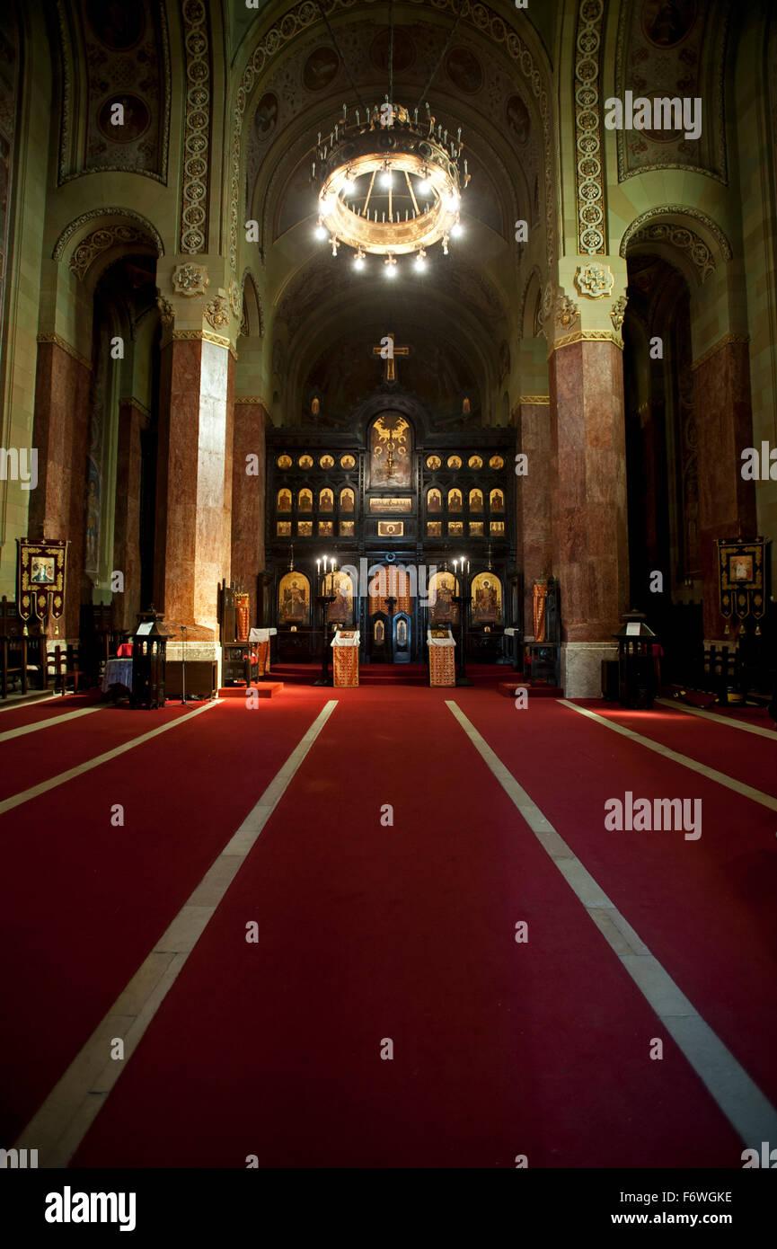 La Cattedrale Ortodossa di riunificazione, Alba Iulia, Transilvania, Romania Immagini Stock
