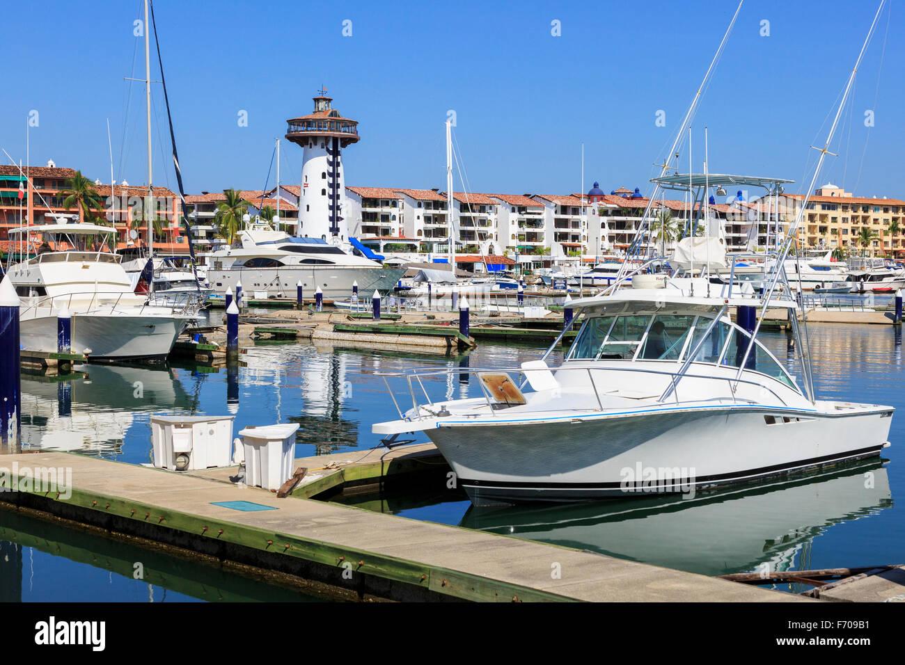 Marina di Puerto Vallarta, Messico Foto Stock