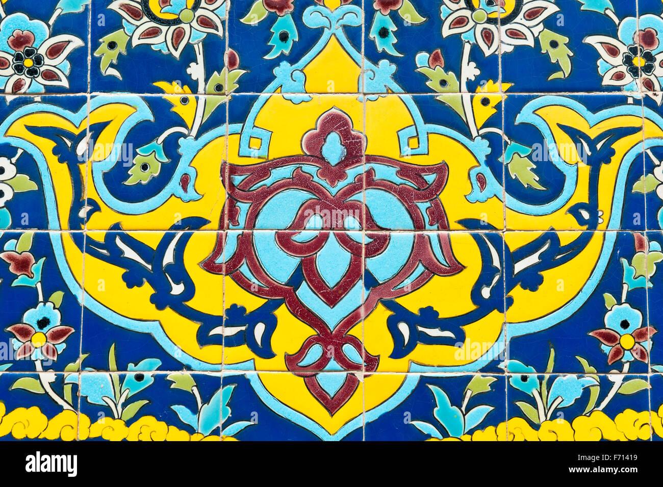 La decorazione floreale piastrelle smaltate golestan palace
