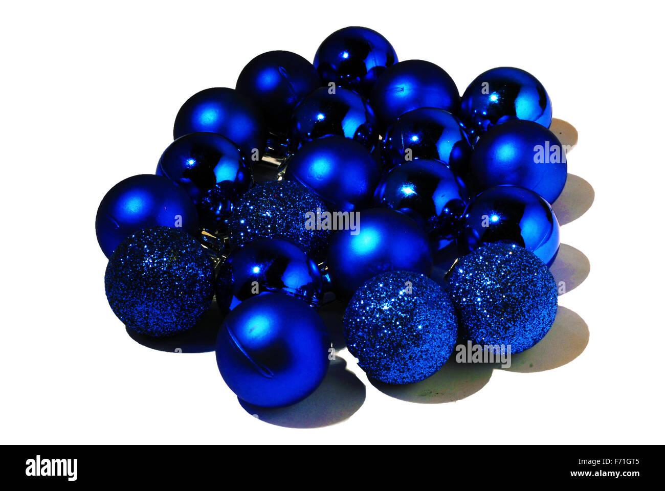 Blue,palle di Natale,vivace,sparkle,sfera di vetro, Immagini Stock