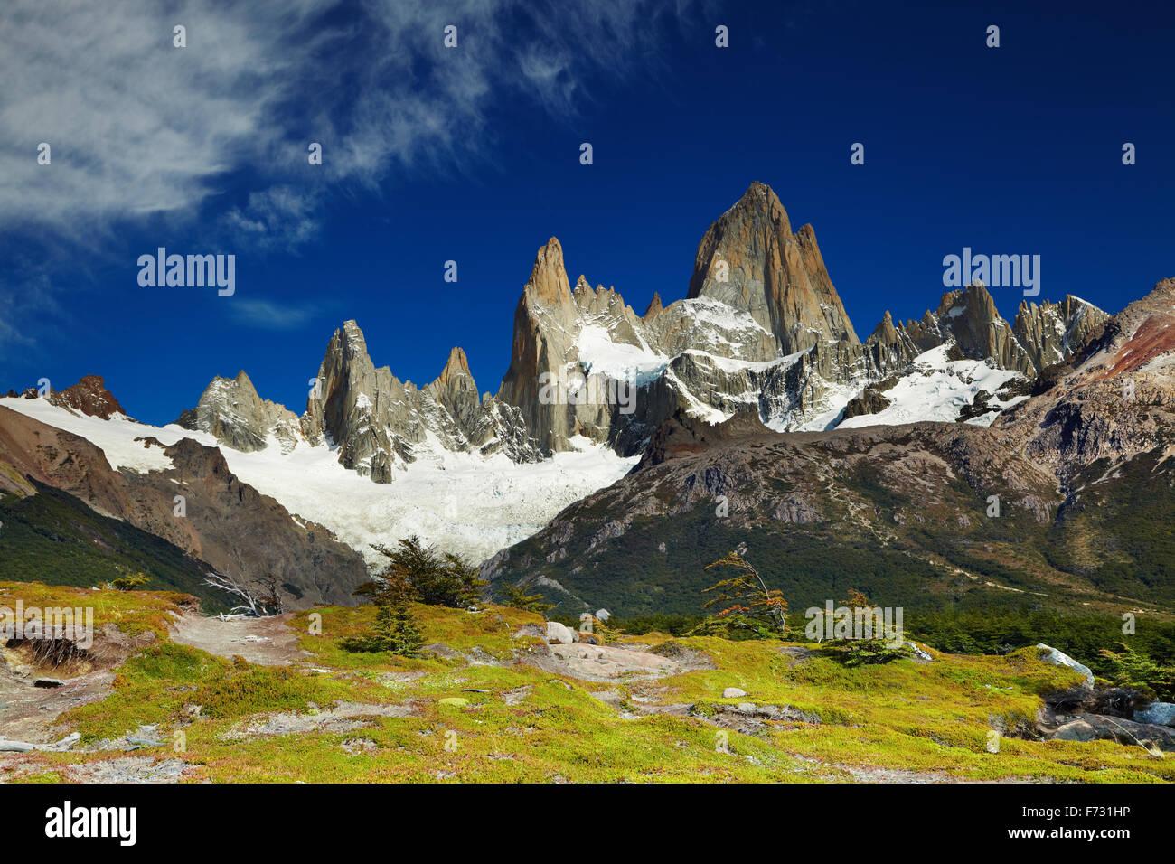 Il monte Fitz Roy, parco nazionale Los Glaciares, Patagonia, Argentina Immagini Stock