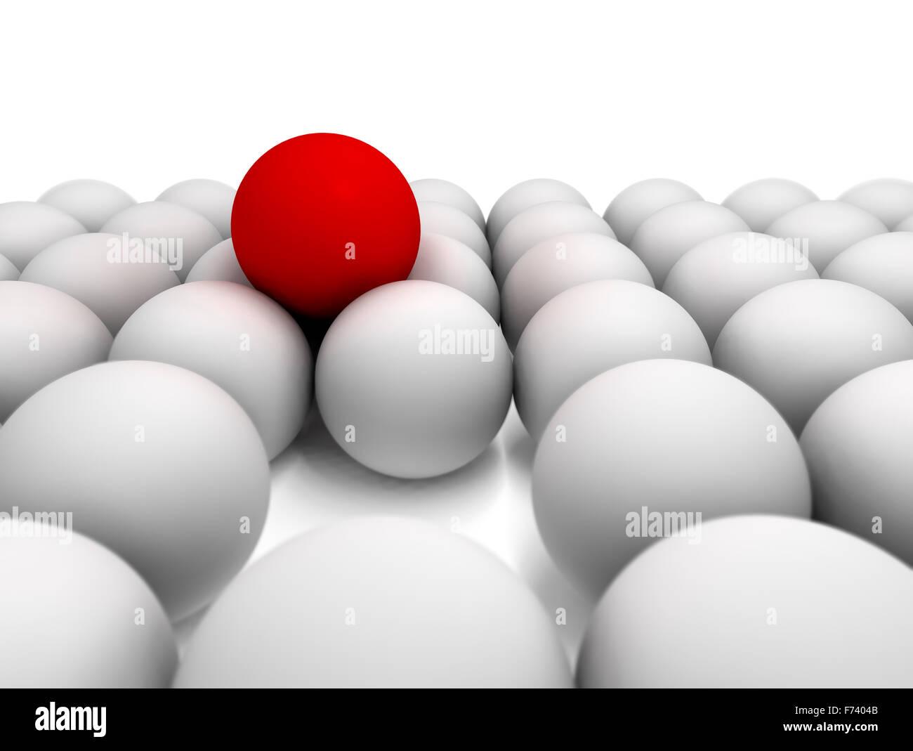 Immagine 3d del concetto di successo con sfere Immagini Stock