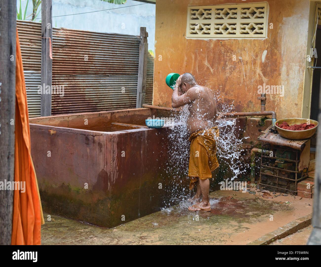 Monaco prendere un bagno, Siem Reap, Cambogia Immagini Stock