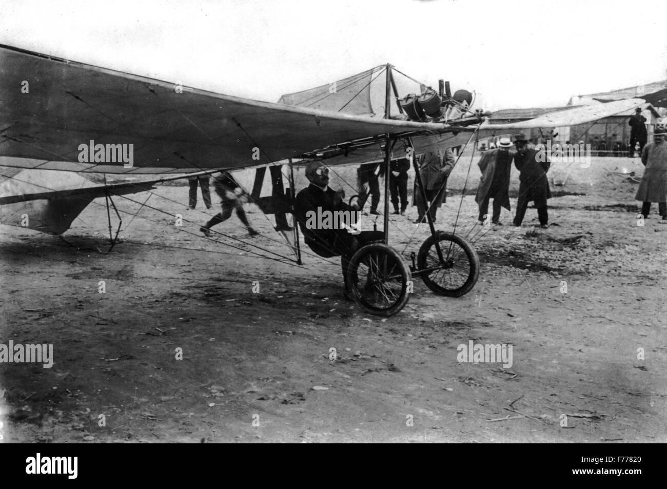 Pionieri del volo,Caproni Ca.9,1910 Immagini Stock
