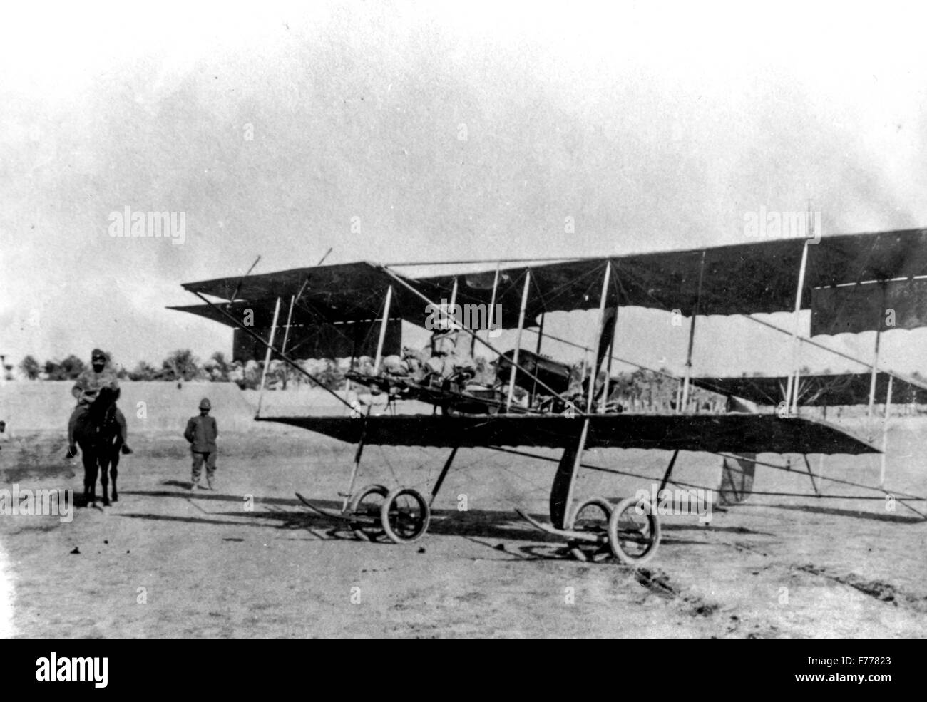 Tripoli, Libia,l'aeromobile farman mf.7,1913 Immagini Stock