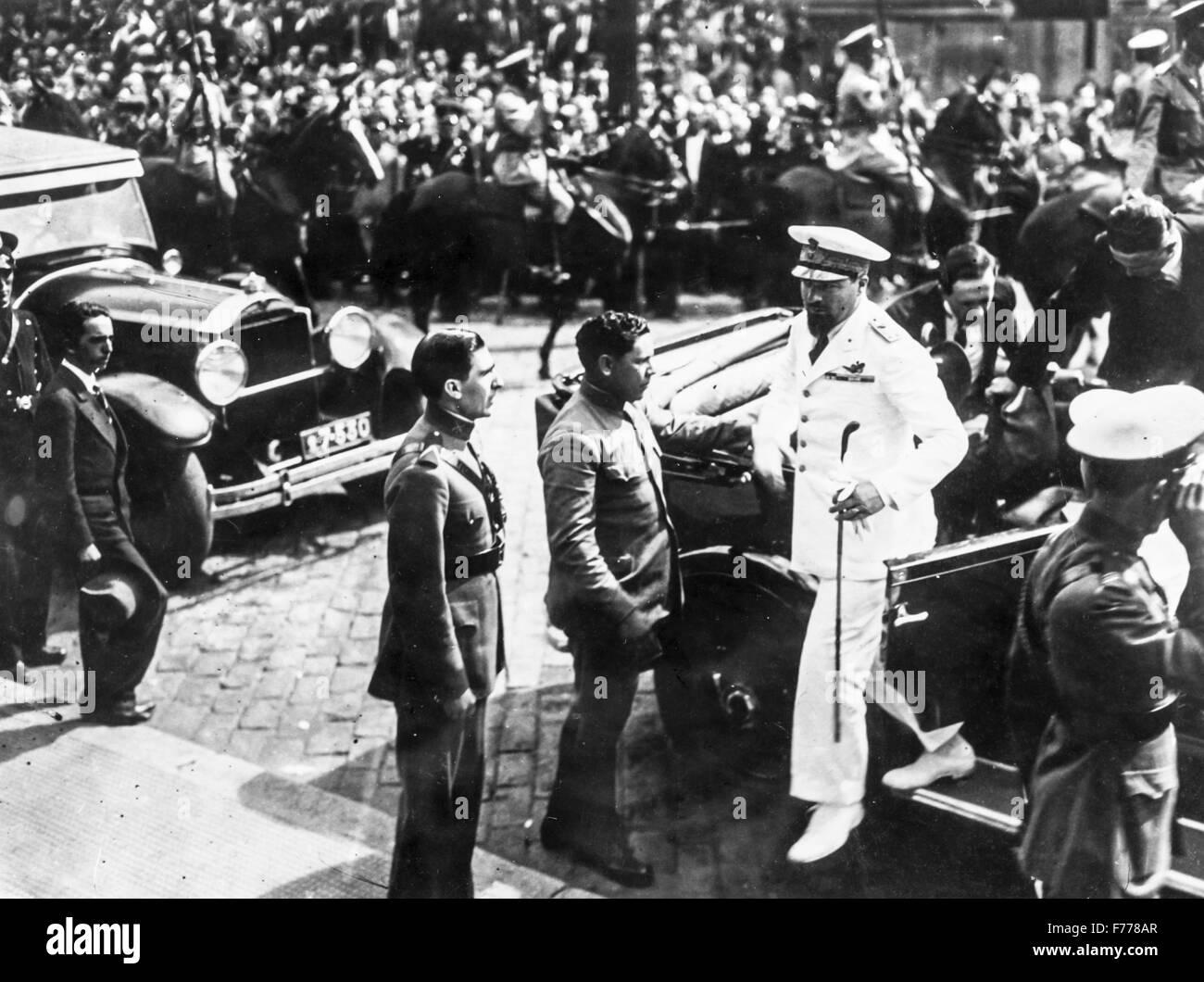Italo Balbo in Sao Paulo durante la crociera acclamato Atlantic Italy-Brazil,1931 Immagini Stock