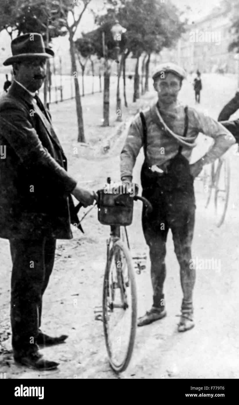 Carlo galetti,giro d'Italia 1910-11 Immagini Stock