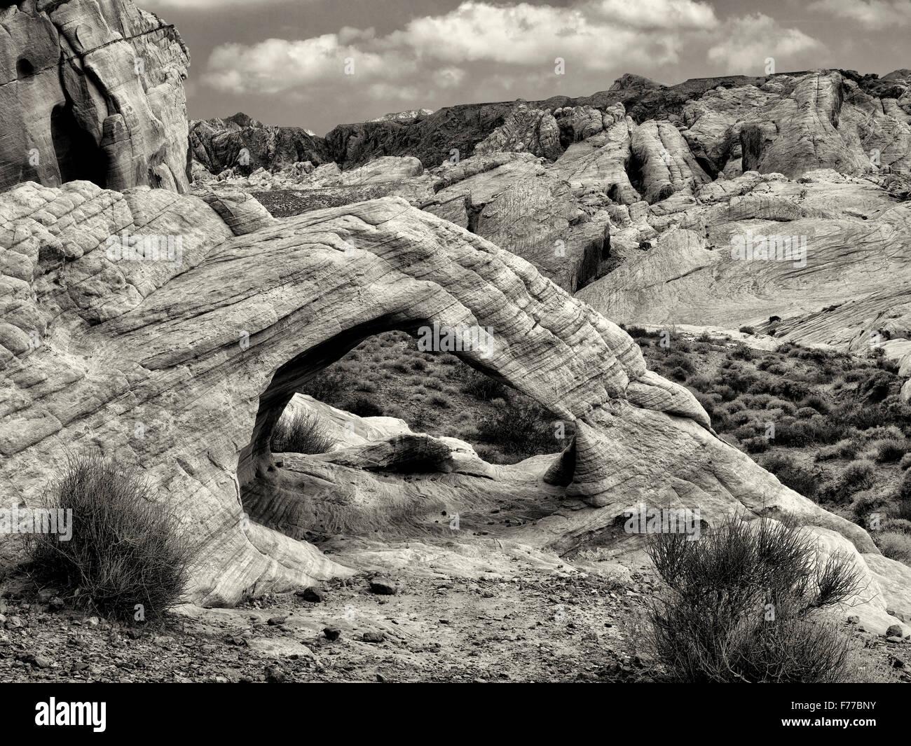 White Arch. La Valle del Fuoco del parco statale, Nevada Immagini Stock