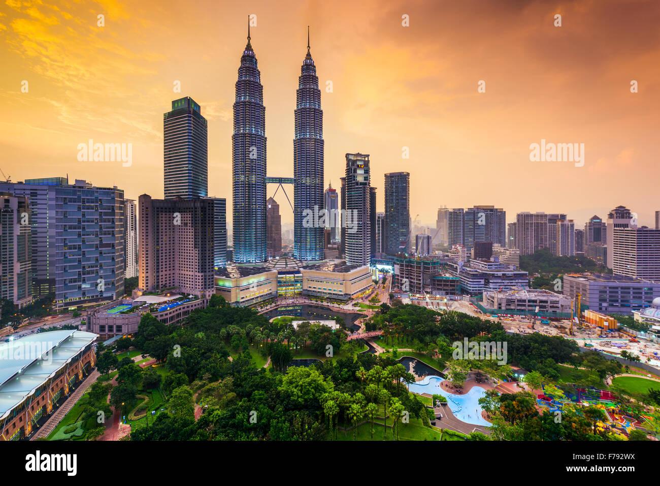 Kuala Lumpur, Malesia skyline. Immagini Stock