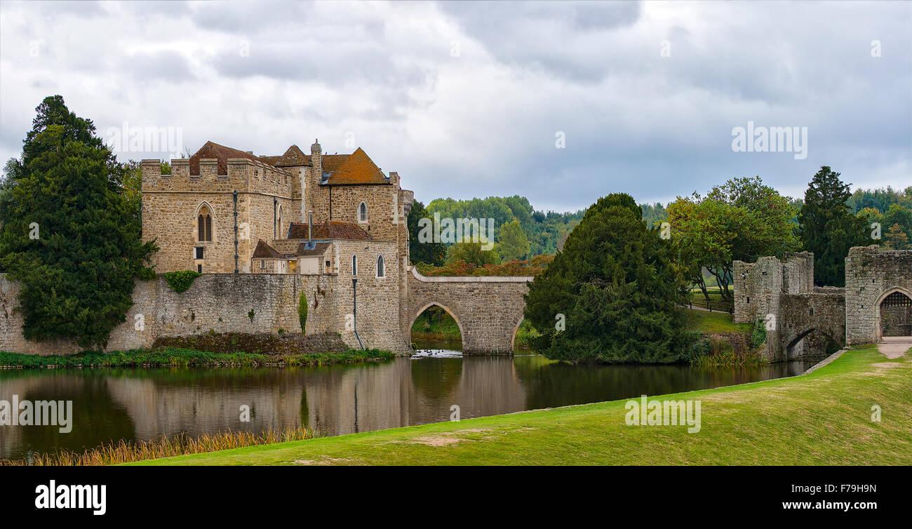 Immagine del castello di Leed nel Kent, Inghilterra. Immagini Stock