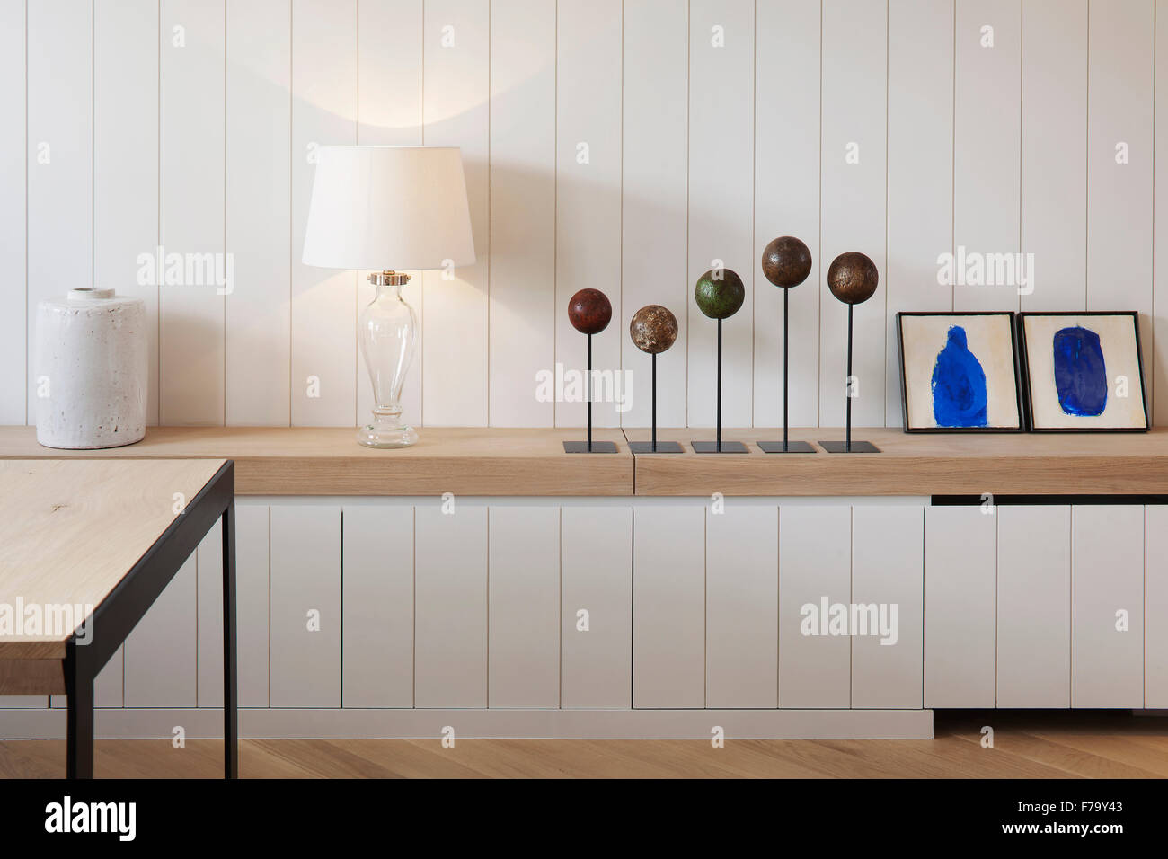 Dettaglio della credenza di storage e mobili in moderni appartamenti, Londra 2012, design by de Rosee Sa Immagini Stock
