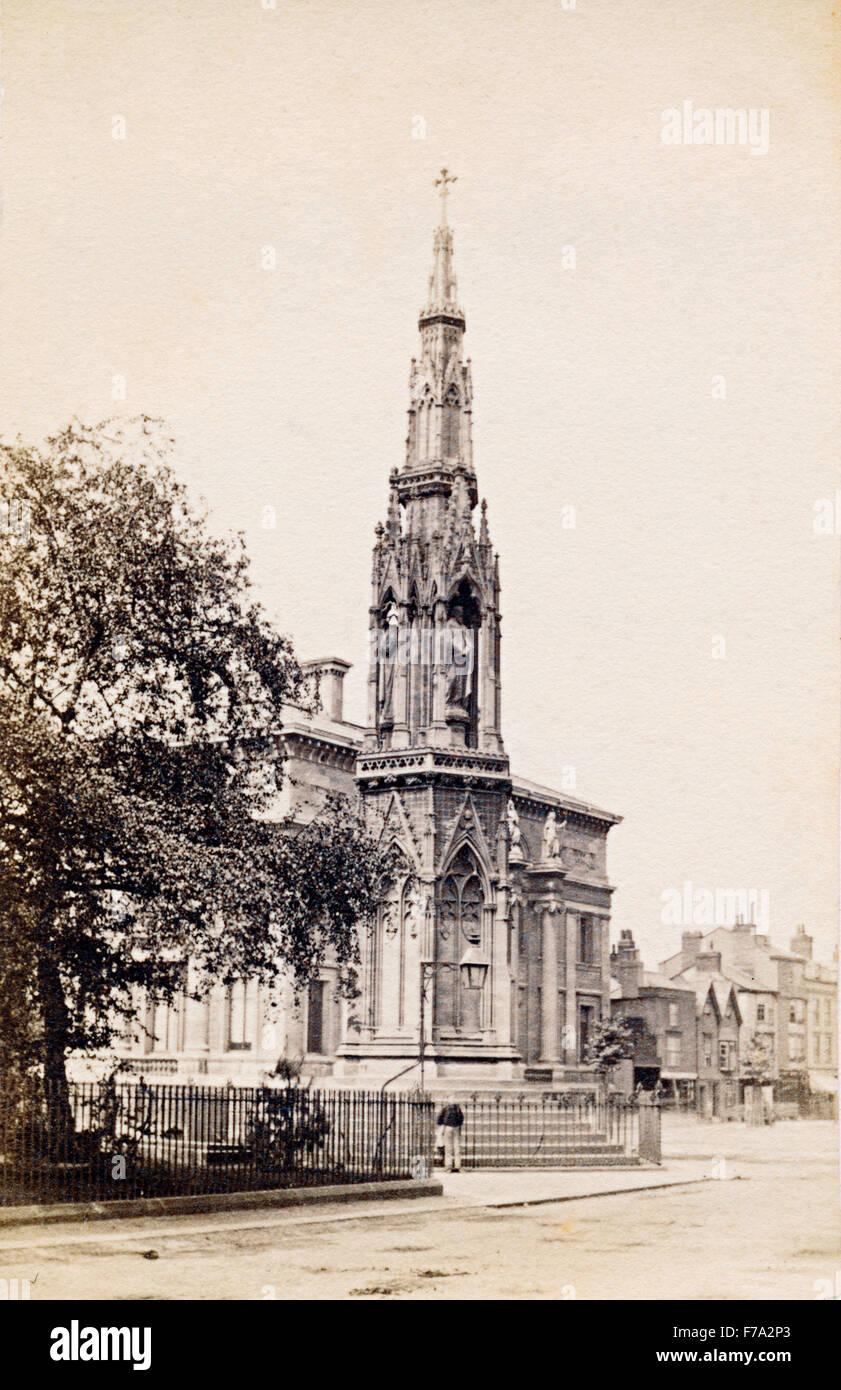 Il martire's Memorial a St Giles, Oxford, UK, in circa 1860s Immagini Stock