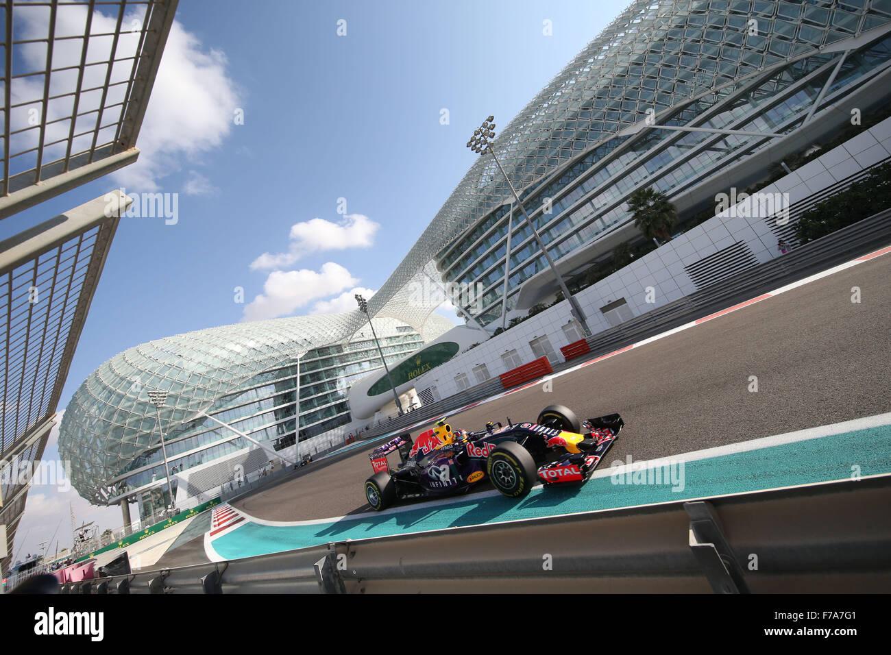 Abu Dhabi. 27 Novembre, 2015. Motorsports: FIA Formula One World Championship 2015, il Gran Premio di Abu Dhabi, Immagini Stock