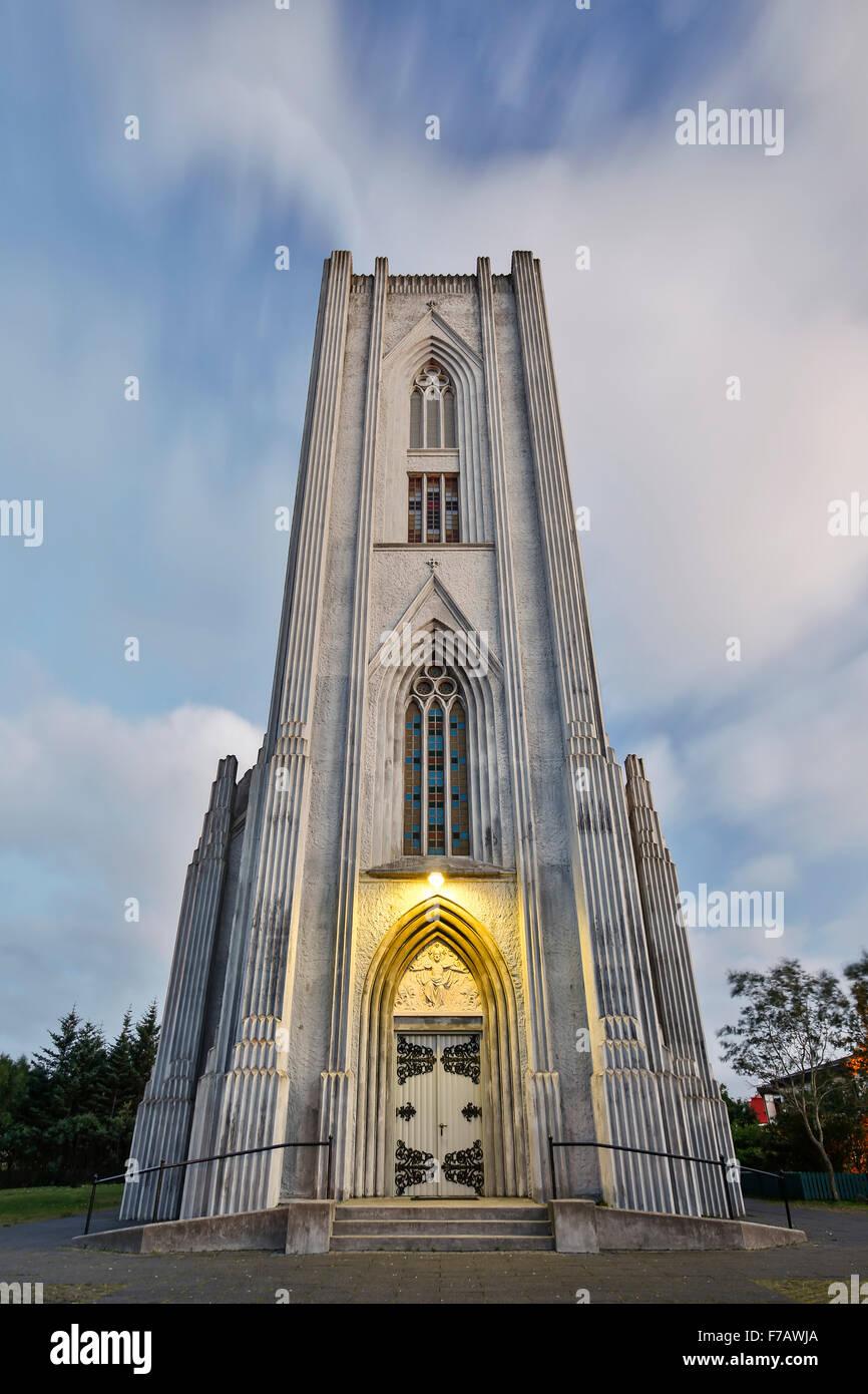 Cattedrale cattolica romana di Cristo Re, Reykjavik, Islanda Immagini Stock