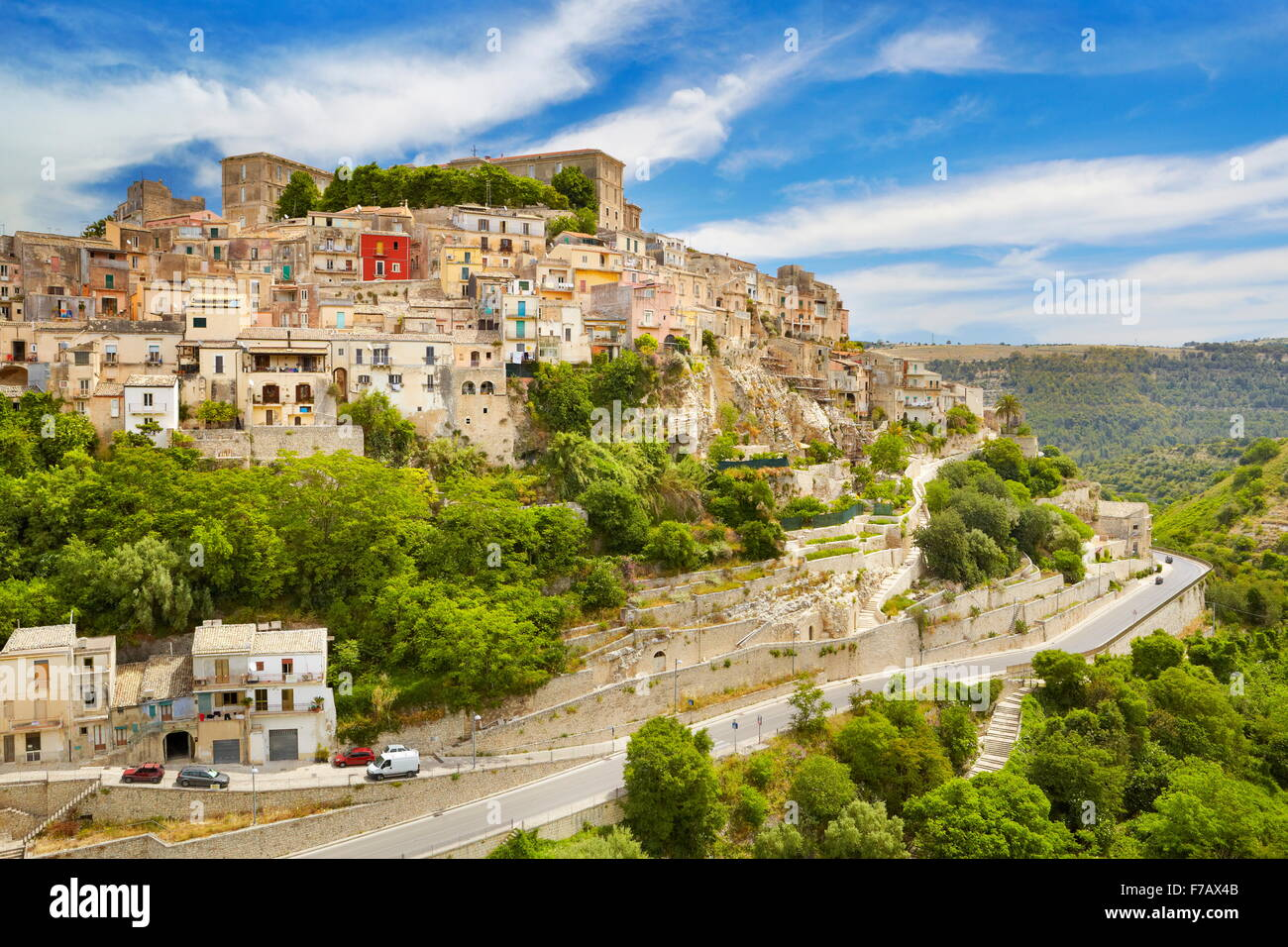 Ragusa Ibla (Città bassa), Sicilia, Italia UNESCO Immagini Stock