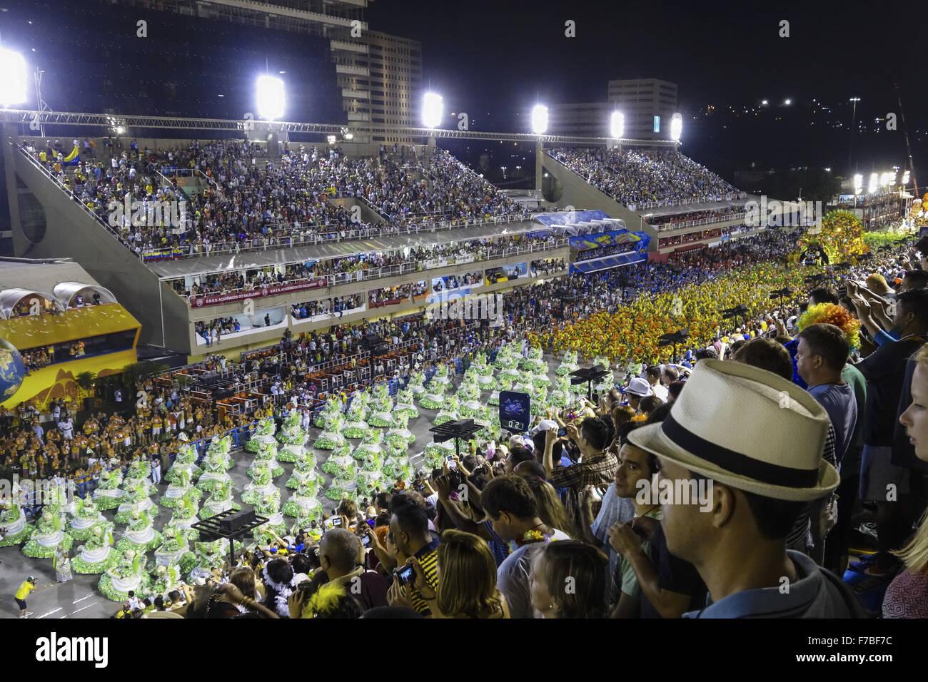 Rio de Janeiro, carnevale Sambadromo, Brasile Immagini Stock