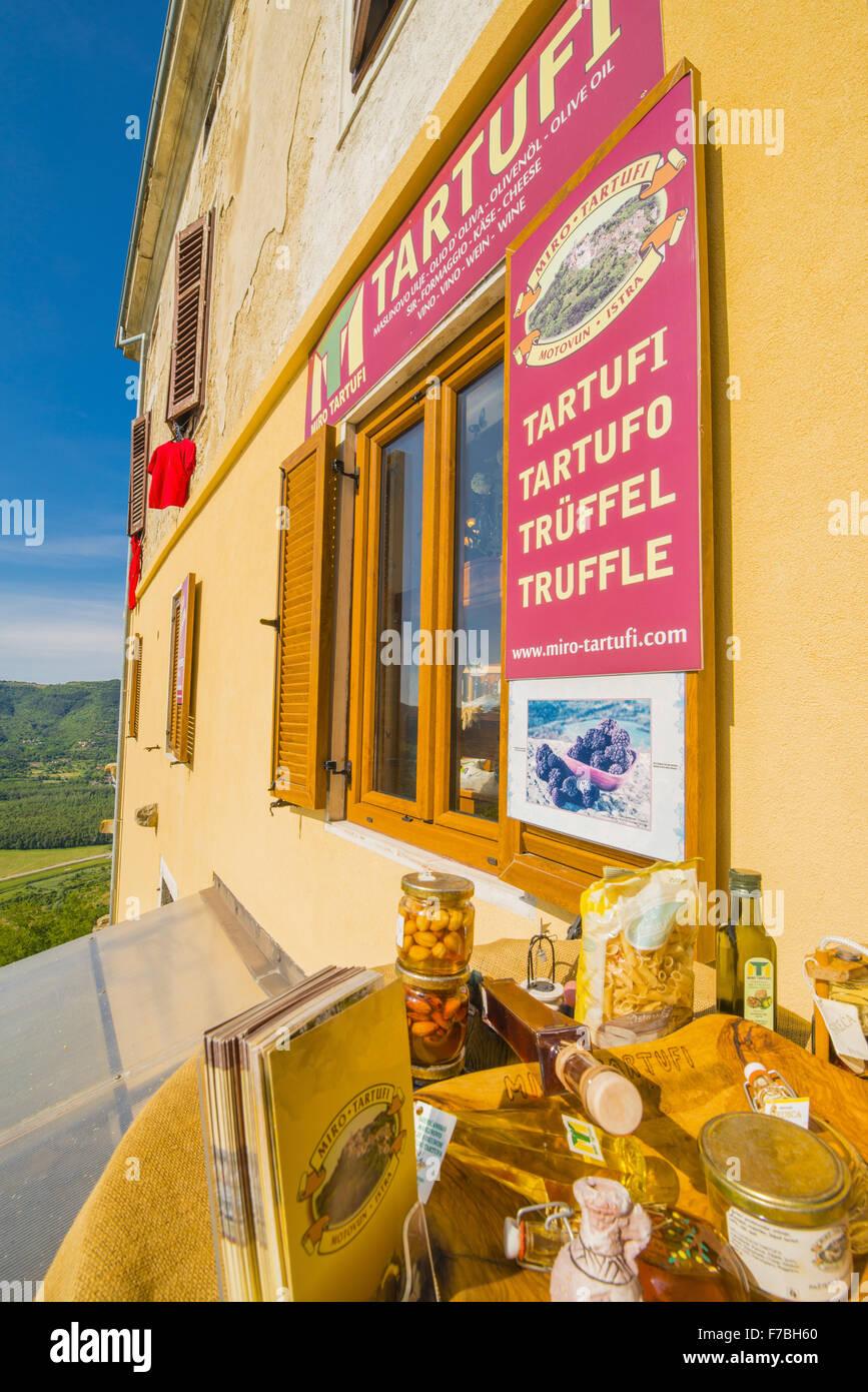 Montona d'Istria Istria Croazia, cibo tradizionale, Croazia, Istria, Motovun Immagini Stock