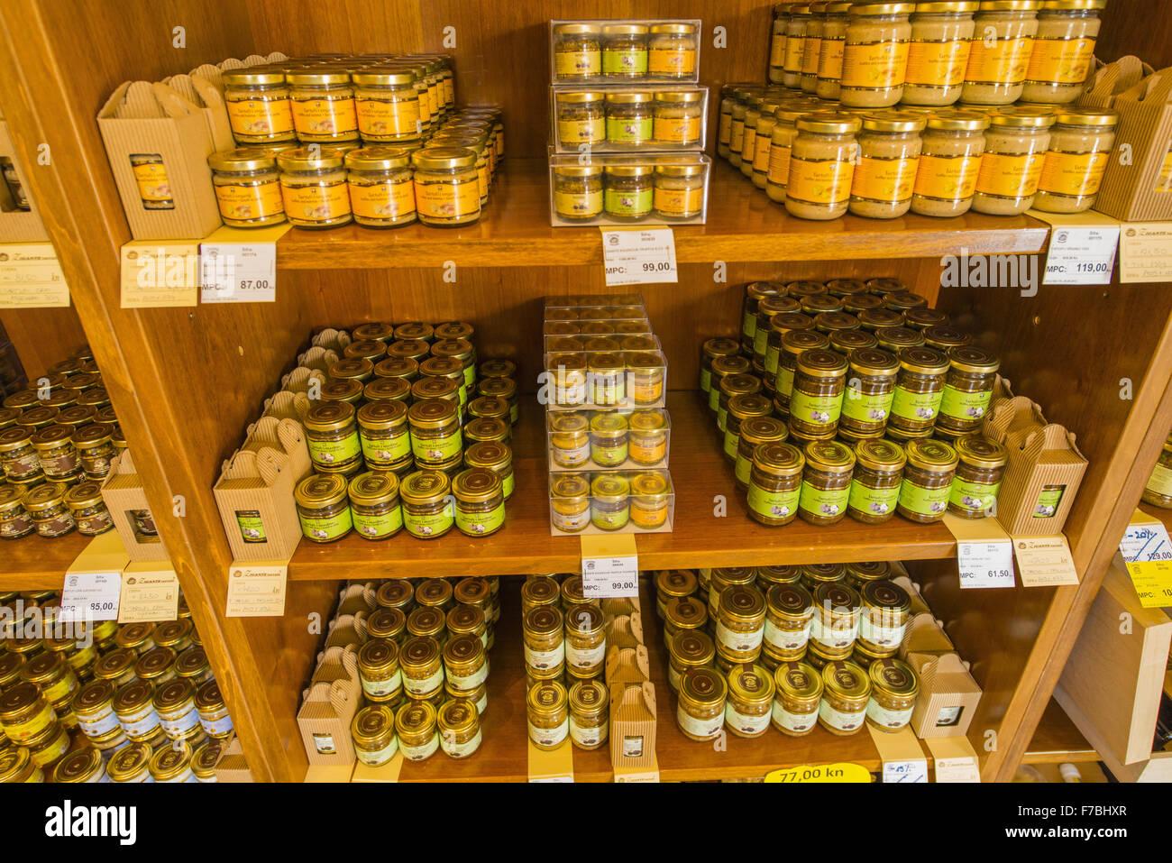 Croazia, Istria Zigante tartufi negozio principale e ristorante a Levade, Levade Immagini Stock