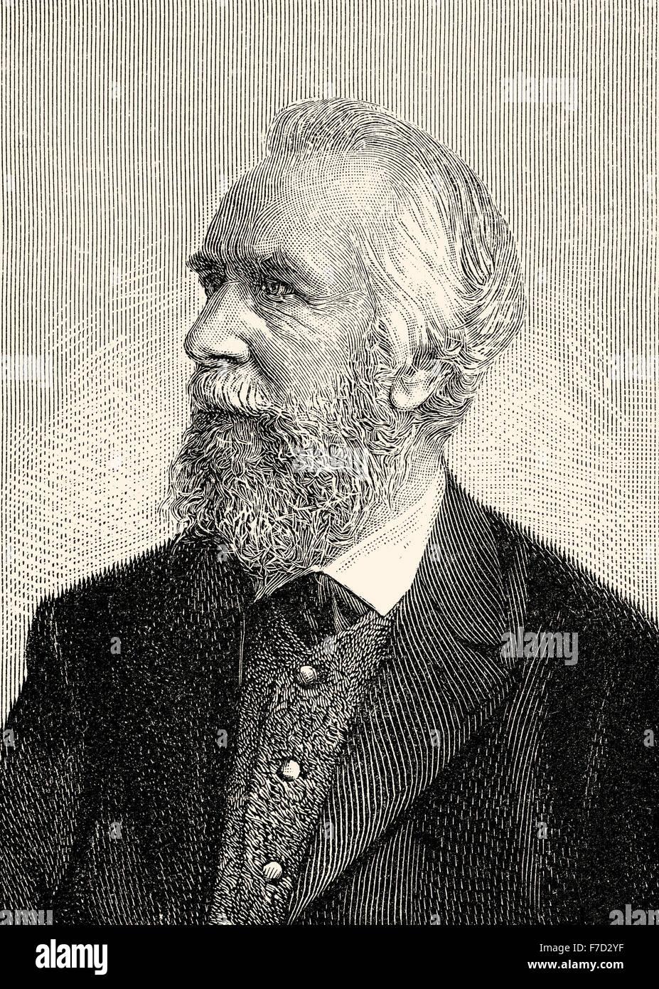 Ernst Heinrich Philipp August Haeckel,1834-1919, un biologo tedesco, naturalista, filosofo, medico, professore e Immagini Stock