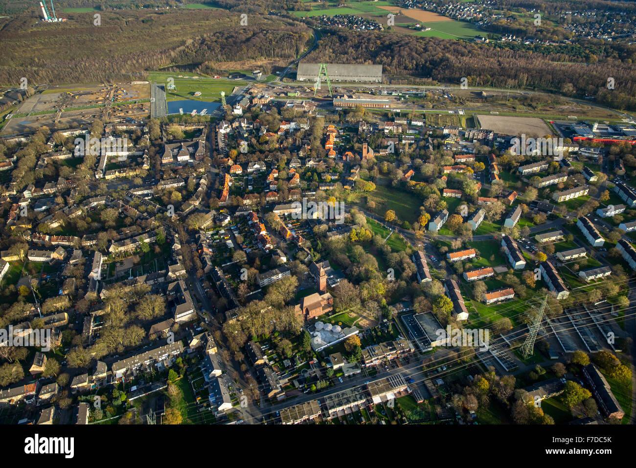 Shopping centrato Garden City Lohberg, terreno ex Zeche Lohberg, Dinslaken, la regione della Ruhr la Renania settentrionale Immagini Stock