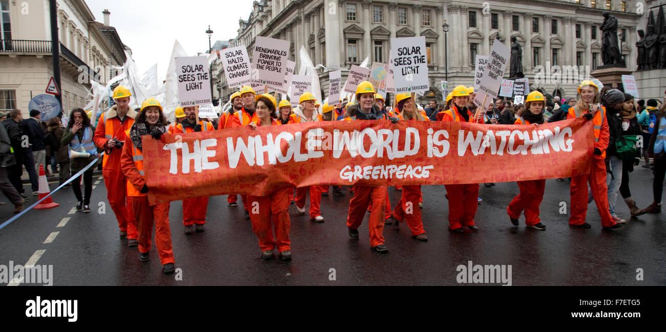 Persone di cambiamento climatico marzo Londra 2015 Immagini Stock