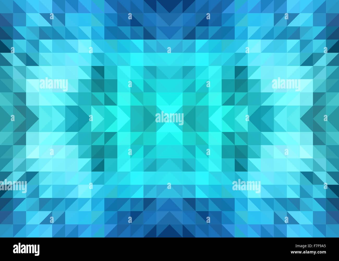 Geometrica astratta triangolo blu pattern, seamless sfondo vettoriale Immagini Stock