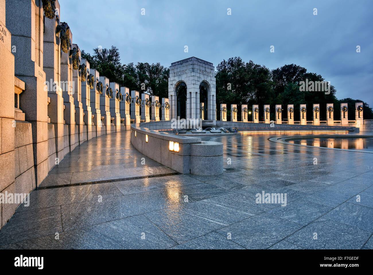 Il Memoriale della Seconda Guerra Mondiale, Washington, Distretto di Columbia USA Foto Stock