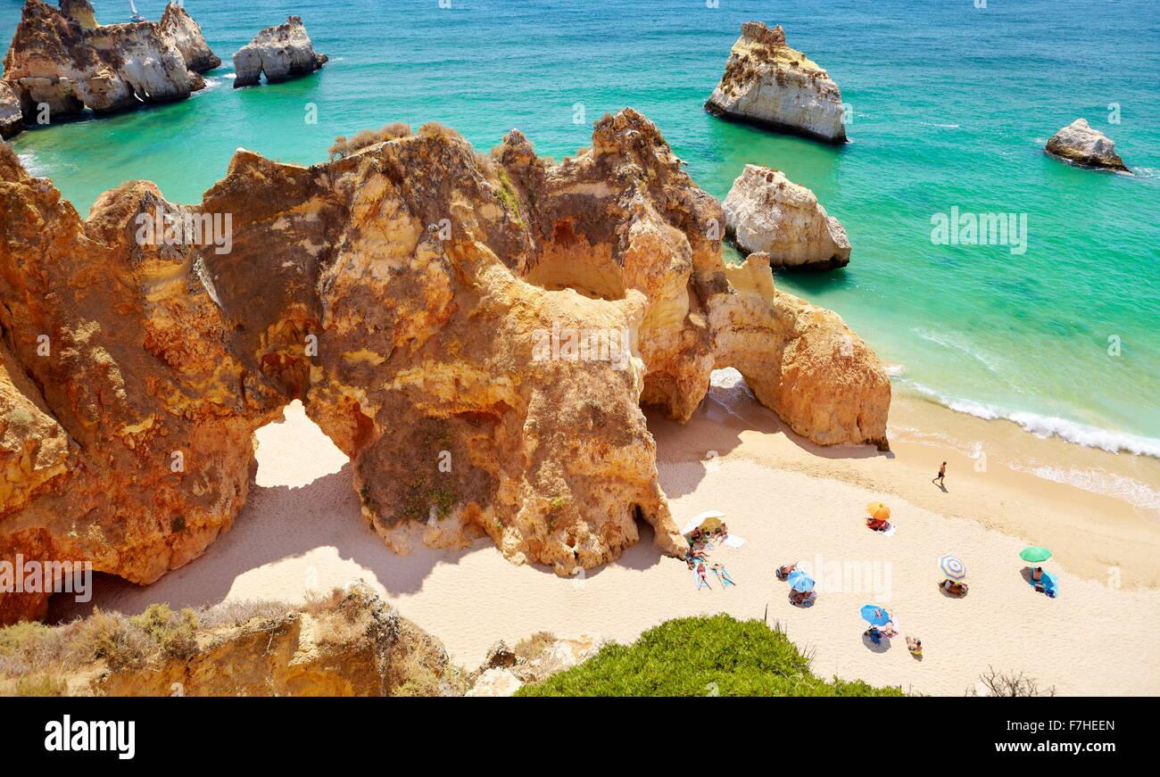 Prainha Beach vicino a Alvor, Algarve, PORTOGALLO Immagini Stock