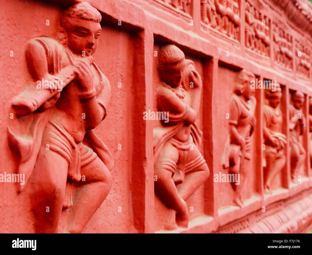 Sculture sulla parete, alla Fiera Surajkund, Haryana, India Immagini Stock