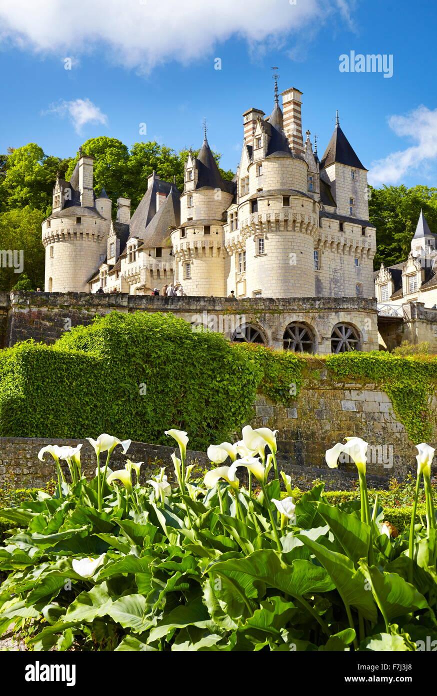 Il castello di Usse, Usse, Valle della Loira, Francia Immagini Stock