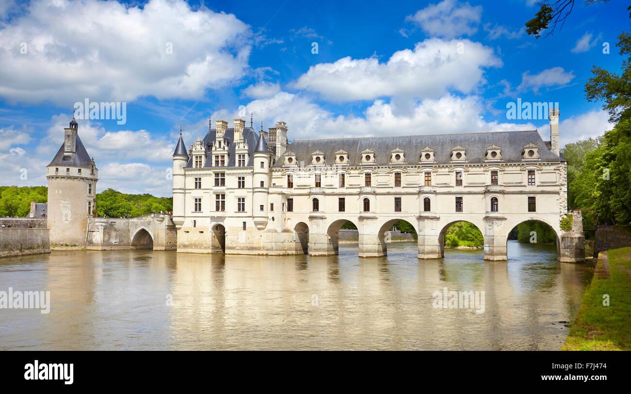 Castello di Chenonceau, Chenonceaux, Valle della Loira, Francia Immagini Stock