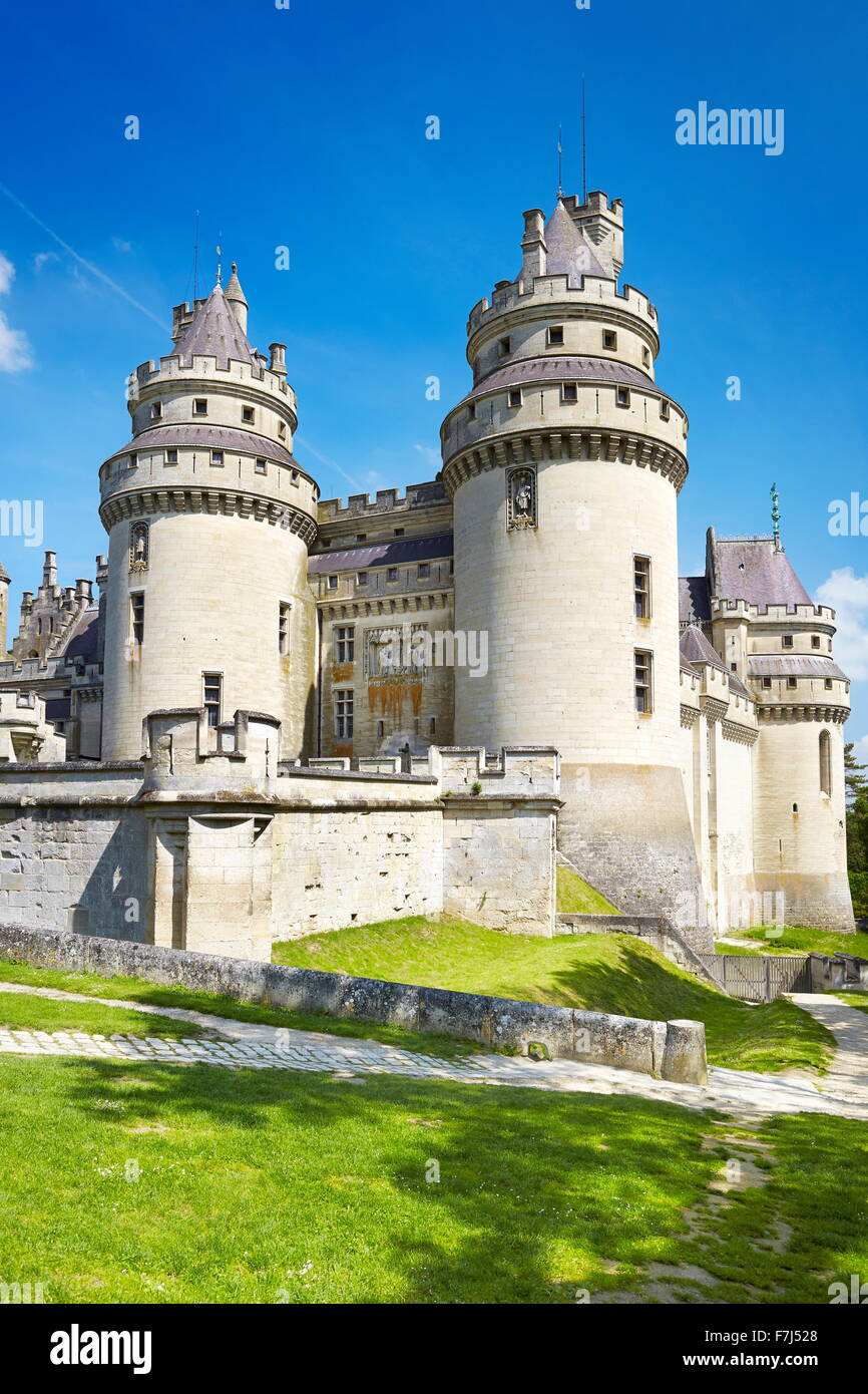 Il castello di Pierrefonds, Picardie (Piccardia), Francia Immagini Stock