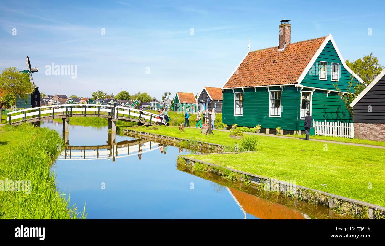 Architettura tradizionale a Zaanse Schans - Olanda Paesi Bassi Immagini Stock