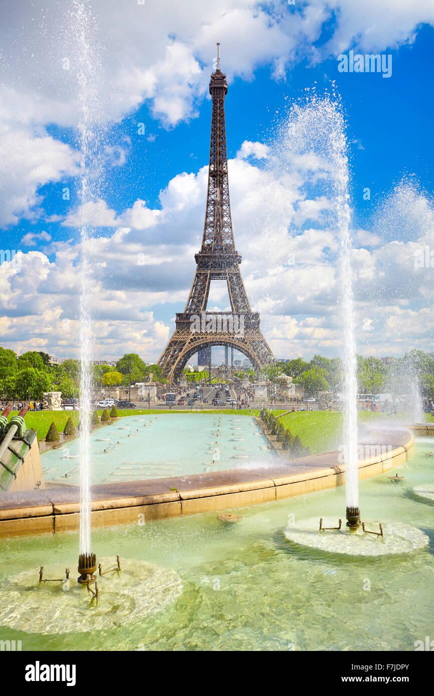 Torre Eiffel, Parigi, Francia Foto Stock