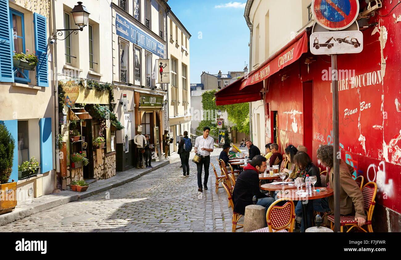 Quartiere di Montmartre, Parigi, Francia Immagini Stock