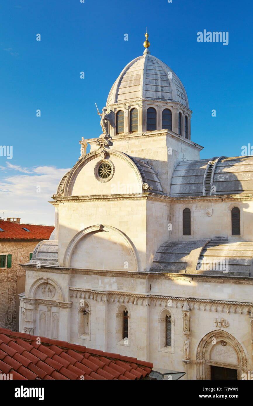 Sibenik, St.James Cathedral, Croazia Immagini Stock