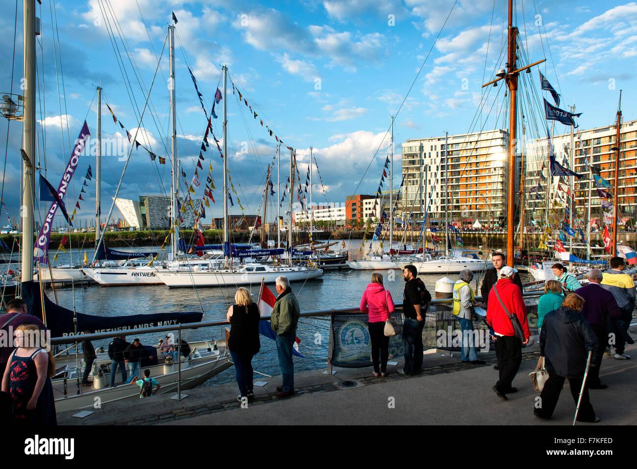 Tall Ships Belfast Irlanda del Nord 2015 Immagini Stock