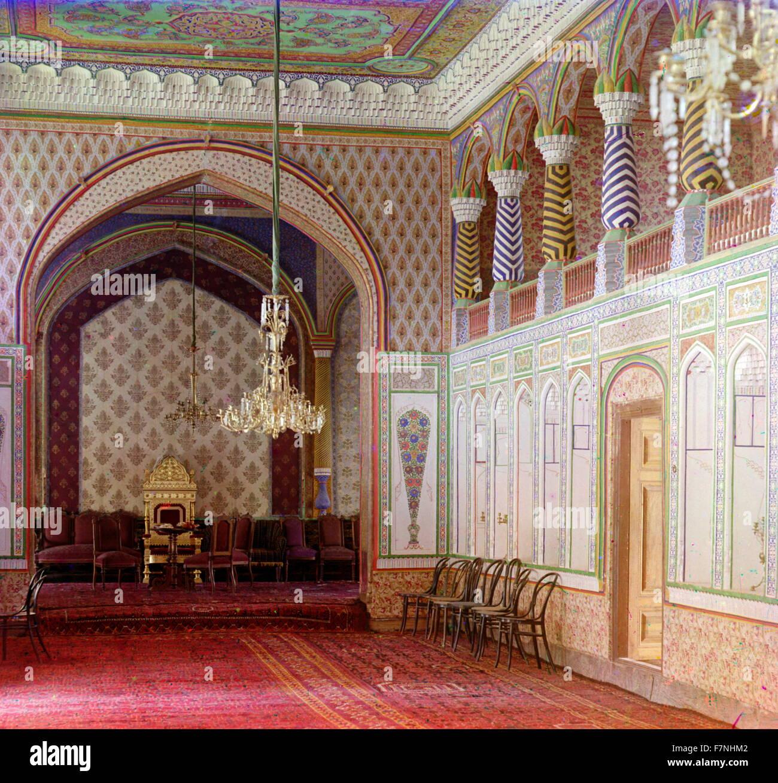 Nel palazzo di campagna di Bukhara emiro. Bukhara Immagini Stock