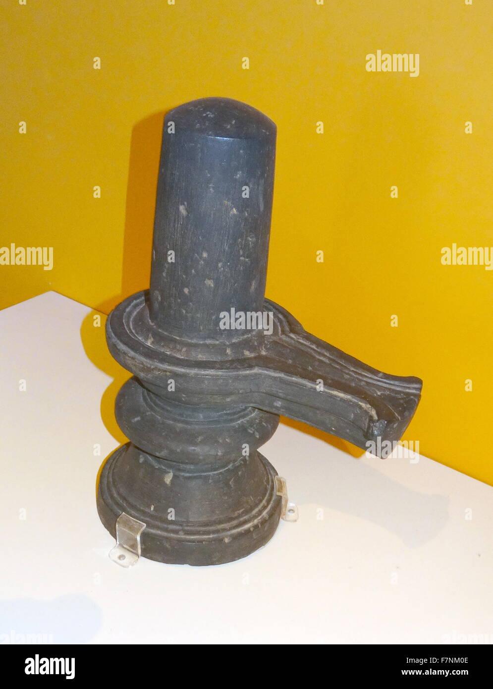 Il granito olio lampada da Mysore, India. Datata xiii secolo Immagini Stock