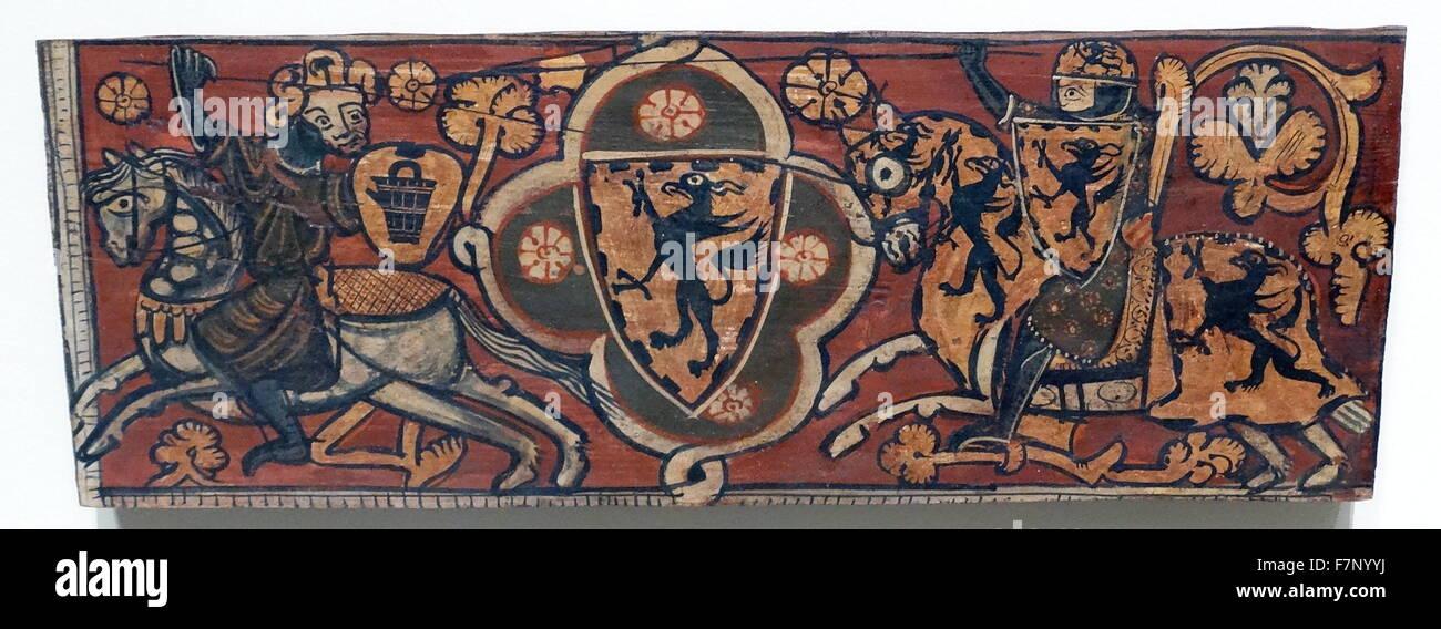 Xv secolo in stile gotico spagnolo carenatura. Immagini Stock
