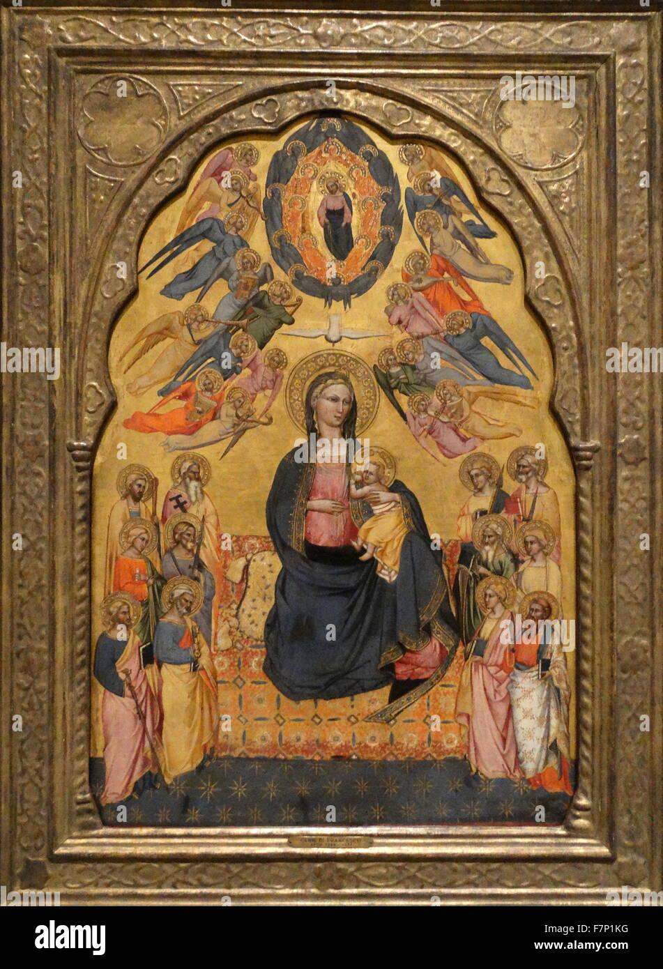 """Arte religiosa intitolata alla Vergine di umiltà"""" con Cenni di Francesco di Ser Cenni (1369-1415) Italiano Immagini Stock"""