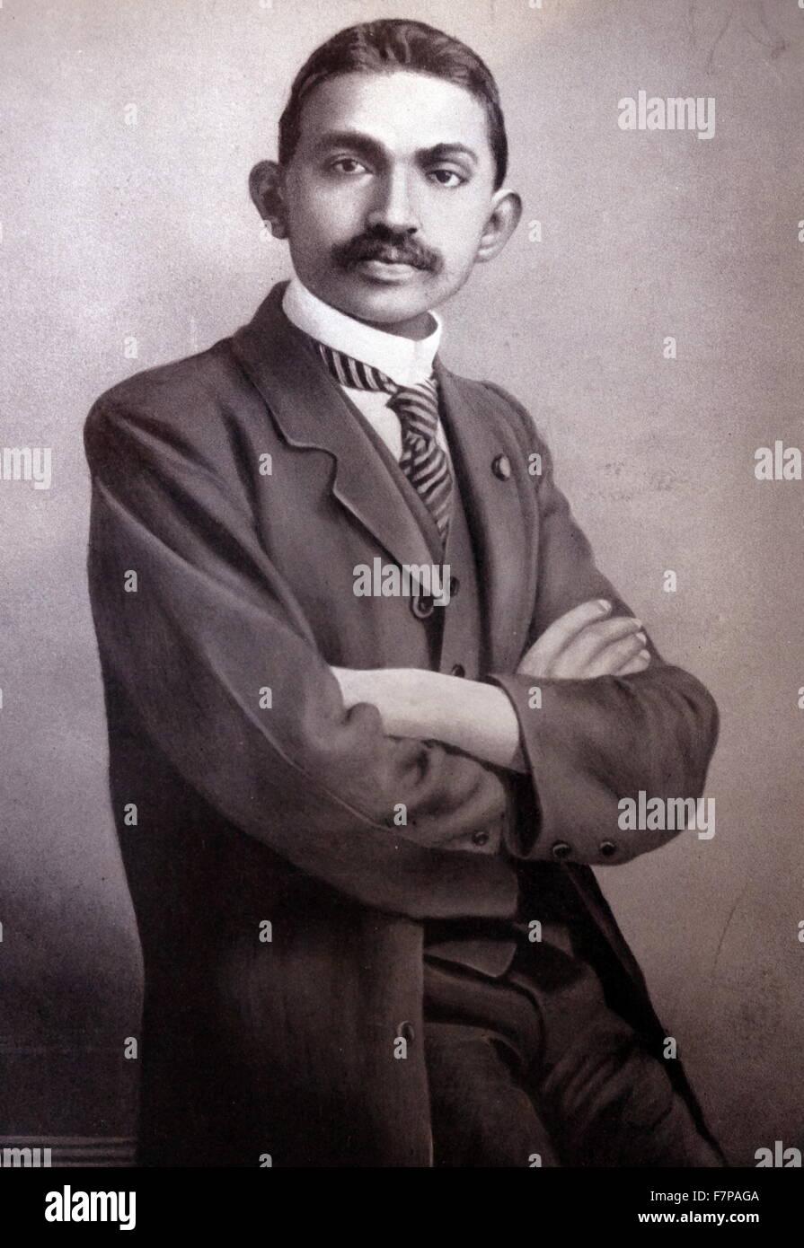 Il Mahatma Gandhi come un avvocato in Sud Africa circa 1905. Mohandas Karamchand Gandhi (1869 - 1948), è stato Immagini Stock