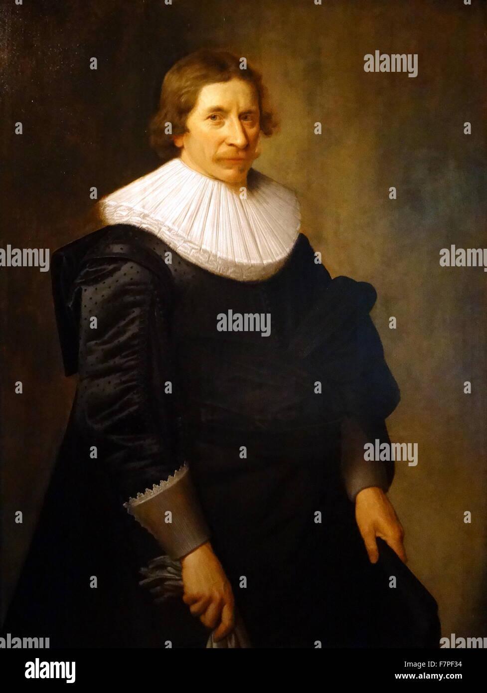 Ritratto di Ignoto Man. Olio su pannello), 1620 s, da Nicolaes Pikenoy (scuola olandese) Immagini Stock