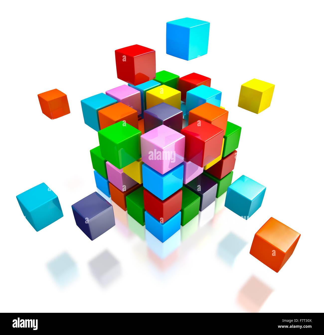 Il lavoro di squadra di business internet concetto di comunicazione Immagini Stock