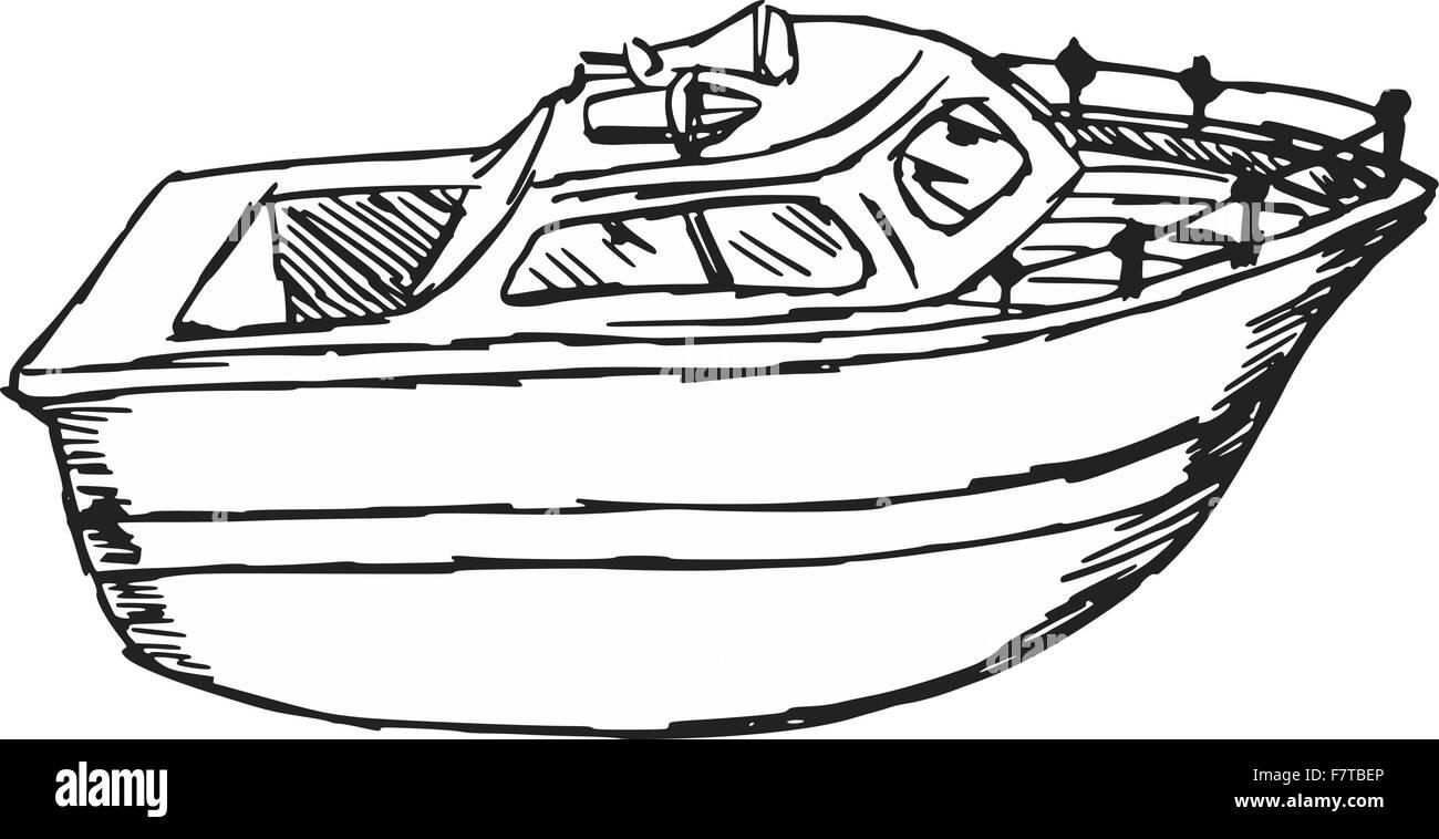 Barca a motore Immagini Stock