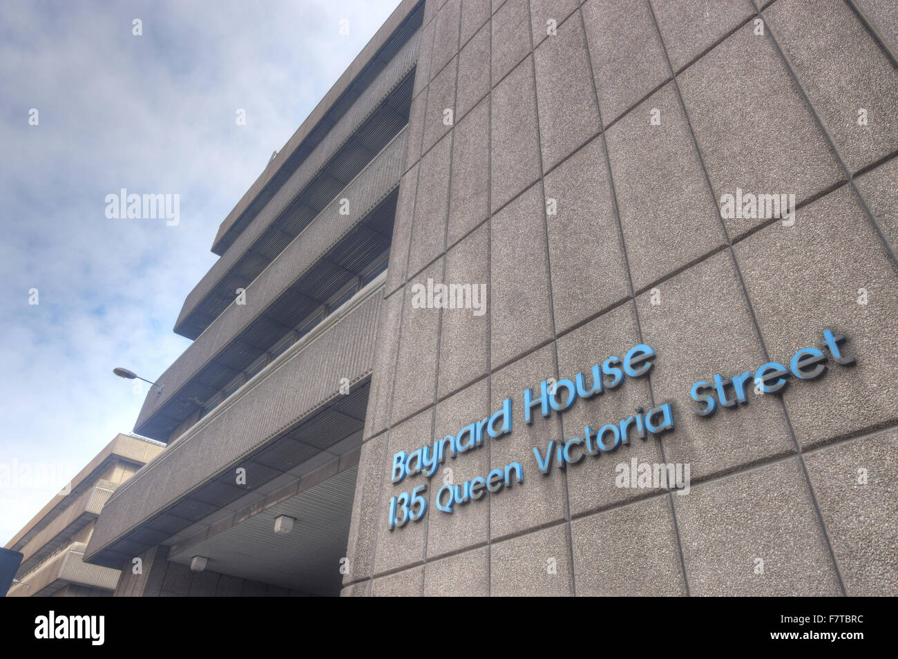 Baynard House, un edificio in calcestruzzo, 70s architettura Immagini Stock