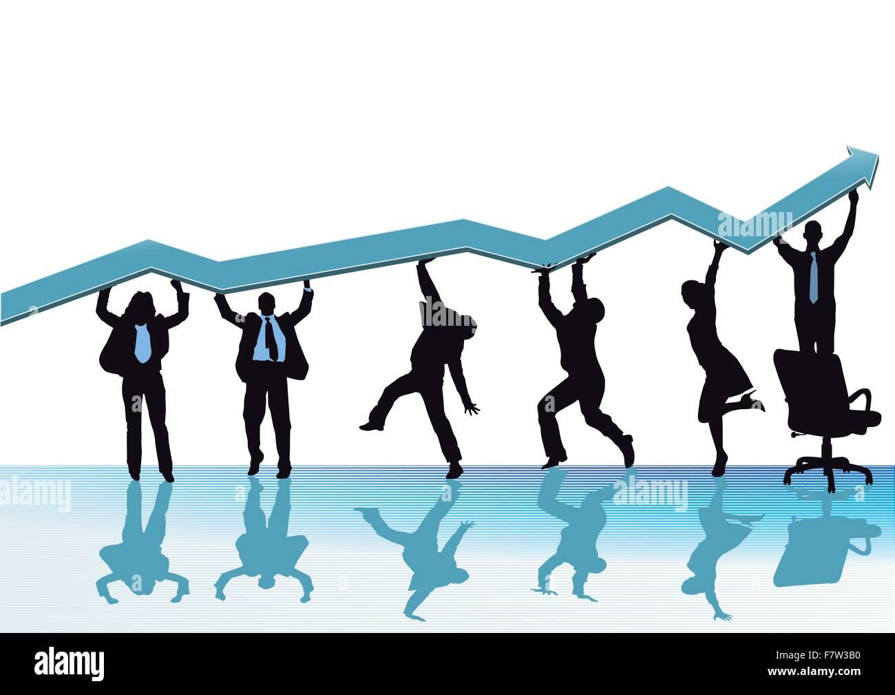 Aumento di business Immagini Stock