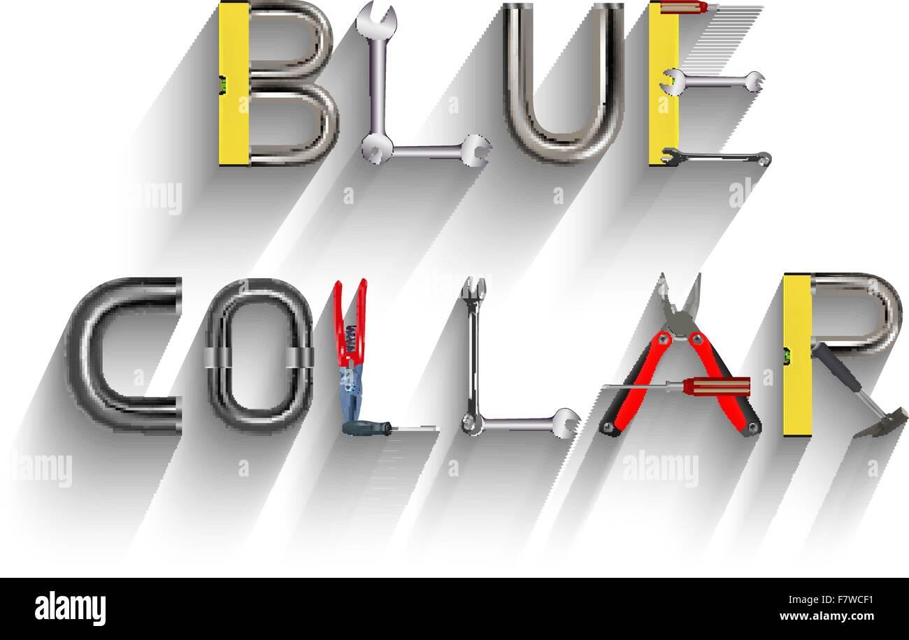 collare blu Immagini Stock