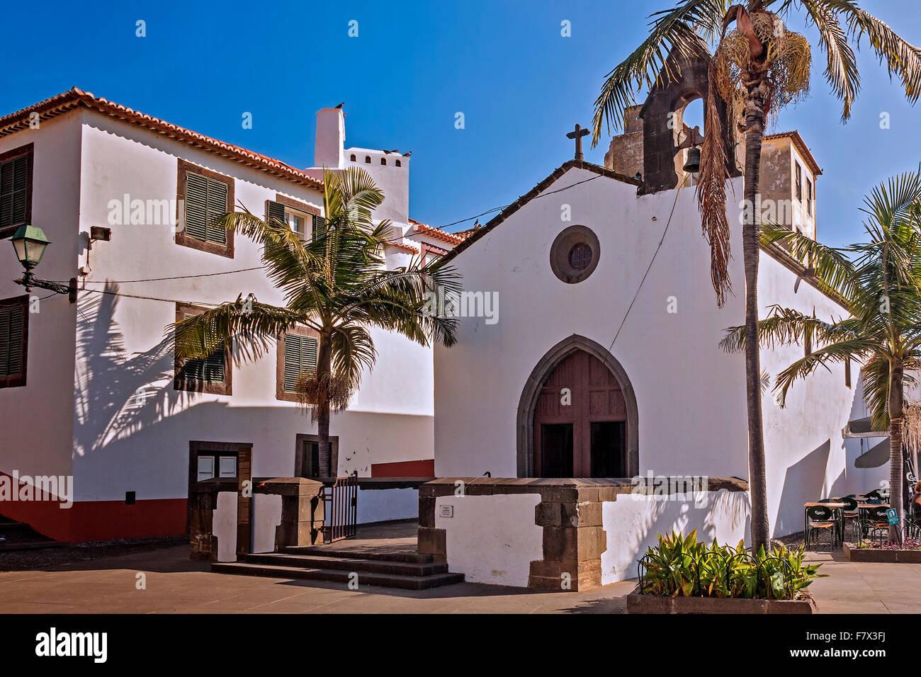 Corpo Santo Cappella Funchal Madeira Portogallo Immagini Stock