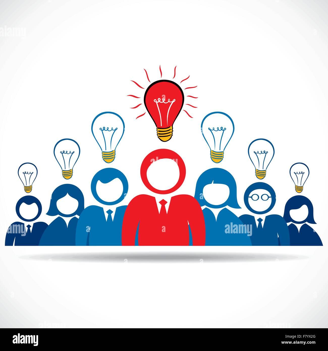 Leader hanno nuovo concetto Immagini Stock